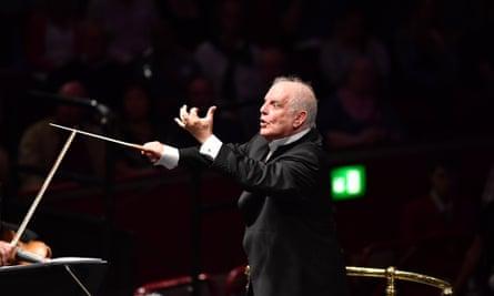 Daniel Barenboim conducts the Staatskapelle Berlin at the 2017 BBC Proms at the Royal Albert Hall
