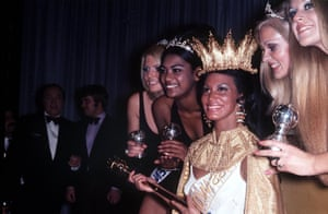 Pearl Janssen, second from left, and Jennifer Hosten, centre at Miss World 1970.