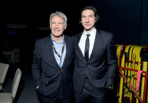 Harrison Ford and Adam Driver.