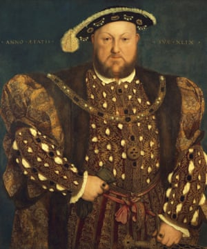 Henry VIII displays his finery.