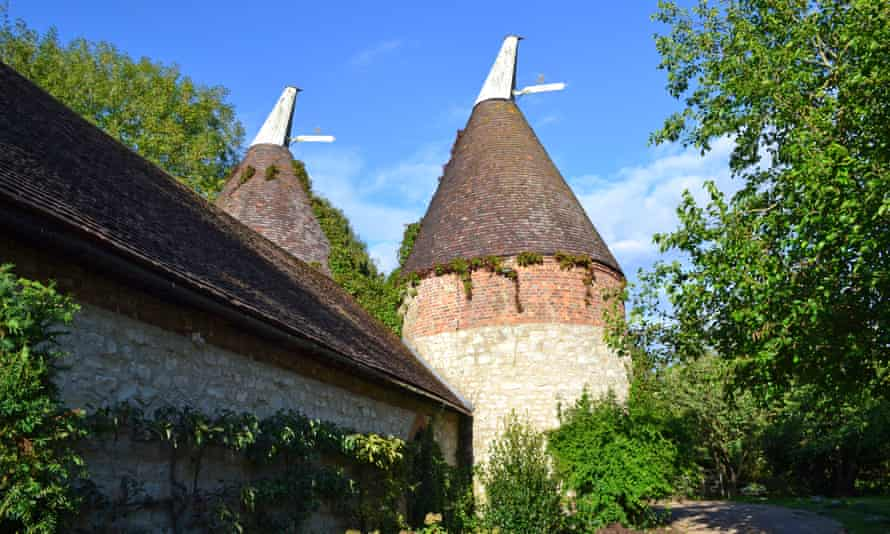 A centuries-old oast house in west Kent.