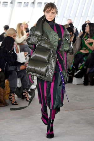 A puffer from Sacai's autumn/winter 2018/2019 collection.