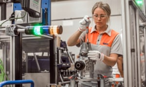 A GKN engineer at work. The £8bn battle for control of Britain's third largest engineering group has been won by Melrose.