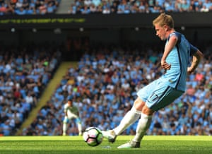 Kevin De Bruyne was imperious against Bournemouth, continuing his excellent start to the season.