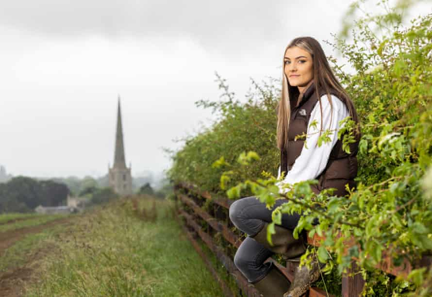 Emily Goodson on the site of the proposed natural burial ground at Castle View Farm in Leicestershire.