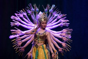 Istanbul, Turkey A Chinese dance and music named Magical Silk Road and Magnificent Longyuan, perform at a cultural center in the Atasehir district
