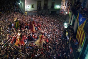 Berga, Spain: Revellers take part in La Patum, a traditional festival
