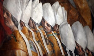Un fresco con cardenales en los apartamentos papales en el Vaticano, que en años anteriores ha sido sede de la conferencia Voz de la fe.