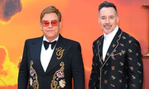 Elton John, with his husband David Furnish