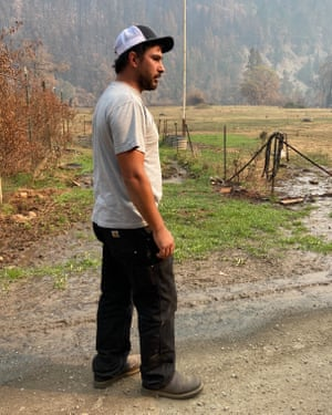Robert Perez, 34, who lost his uninsured ranch to the Slater fire in Happy Camp. 'It's next to impossible to get fire insurance and be able to afford it,' said Perez.