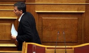 Greek finance minister Euclid Tsakalotos.