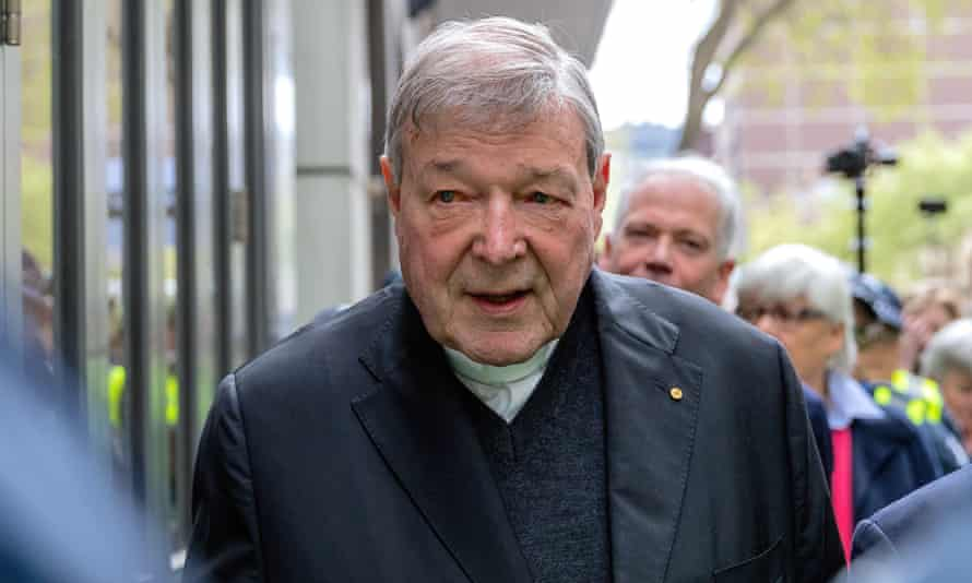 Cardinal George Pell outside court