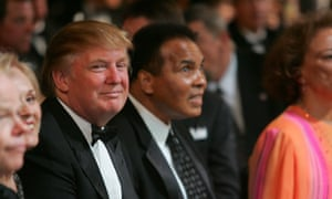 Donald Trump with legendary boxer and Muslim, Muhammad Ali.