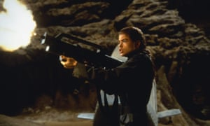 'I refused to do the topless scene' … Denise Richards in Starship Troopers.