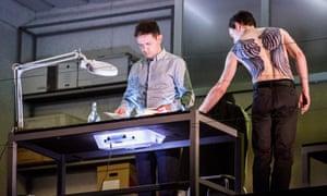 Iestyn Davies as the Boy) and Ben Clifford (Angel Archivist) in Written on Skin.