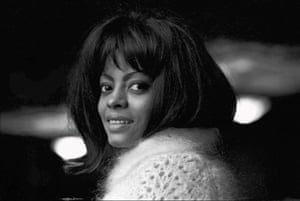 A candid shot of Diana Ross backstage at Finsbury Park Astoria, London for the opening of the Tamla-Motown UK tour, March 1965