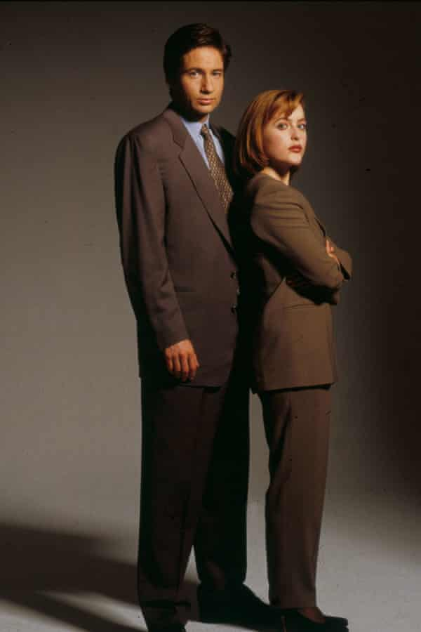 Duchovny and Anderson in the first series, 1995.