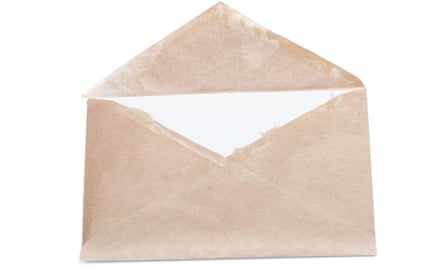 Old open envelope