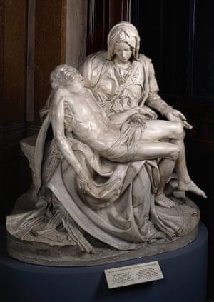 A 1970s plaster copy of Michelangelo's 'devastatingly strange' Pietà, c1497-1500.