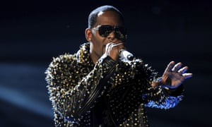 R Kelly performs at the BET Awards at the Nokia Theatre in Los Angeles, 30 June 2013.