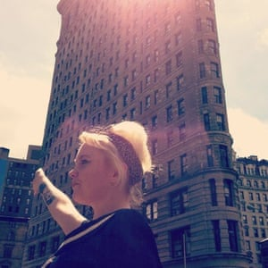 Terri White outside the Flatiron Building in Manhattan, June 2012