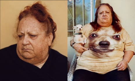 A composite photograph of Pat Martin's two prize-winning portraits of his mother.