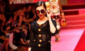 Dolce and Gabbana's crochet creation.