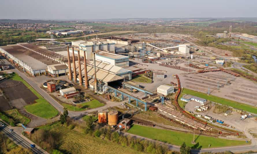 The Liberty Steel plant in Rotherham, England.