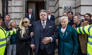 """'Someone asked me: """"Do you not think this is a dangerous thing to do?""""': left to right, Andrea Riseborough, Robbie Coltrane and Julie Walters in National Treasure."""