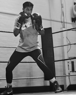 Fighting spirit: Ramla Ali in training.