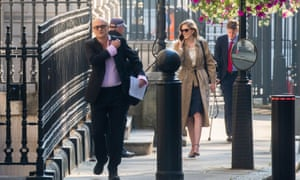 Dominic Cummings in Downing Street this morning.