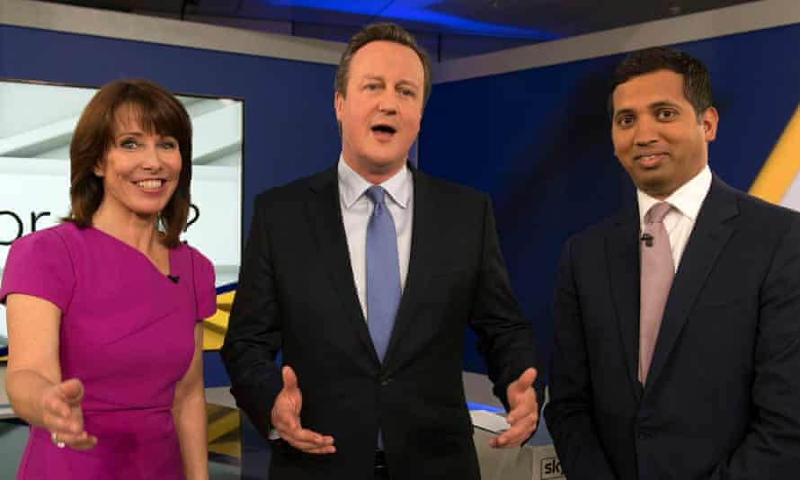 David Cameron, with Sky's Faisal Islam and Kay Burley, faced a sceptical audience in a London studio during an interview on Thursday.