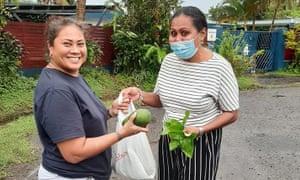 Yoshiko Wakaniyasi and Ana Delailomaloma trade fresh produce through the Barter for Better Fiji Facebook page.