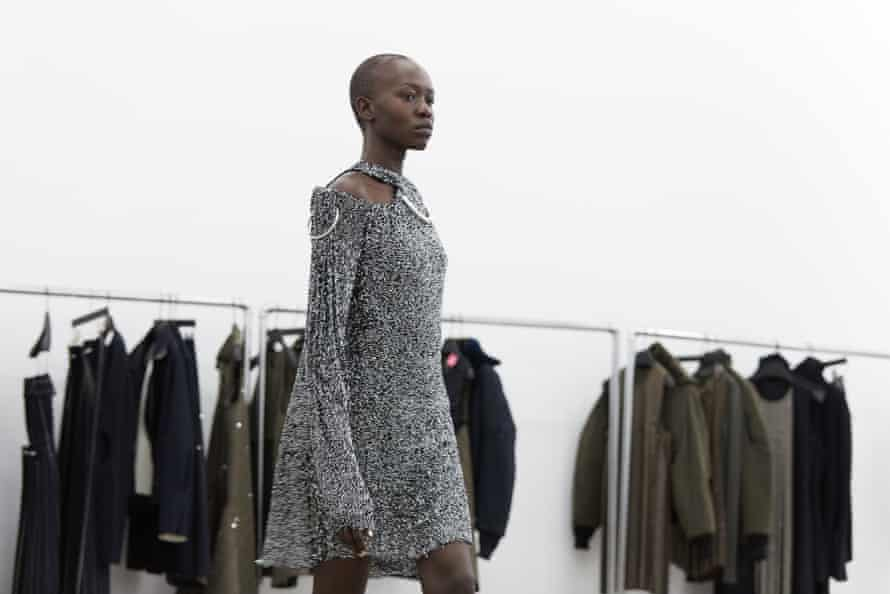 Backstage before Dion Lee's show at NYFW