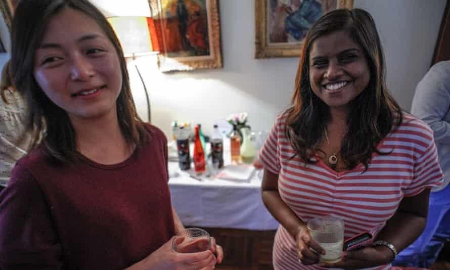 two women socialising
