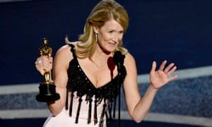 Laura Dern with her Oscar.