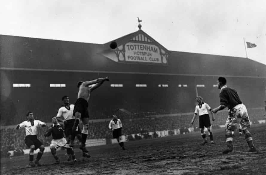 The Swastika flies over White Hart Lane.