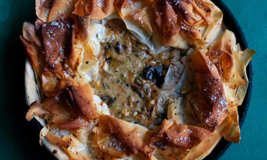 'Feels like a celebration': chicken, leek and prune pie.
