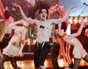 Alan Cumming as the Emcee in the 1998 Broadway production of Cabaret, for which he won a Tony