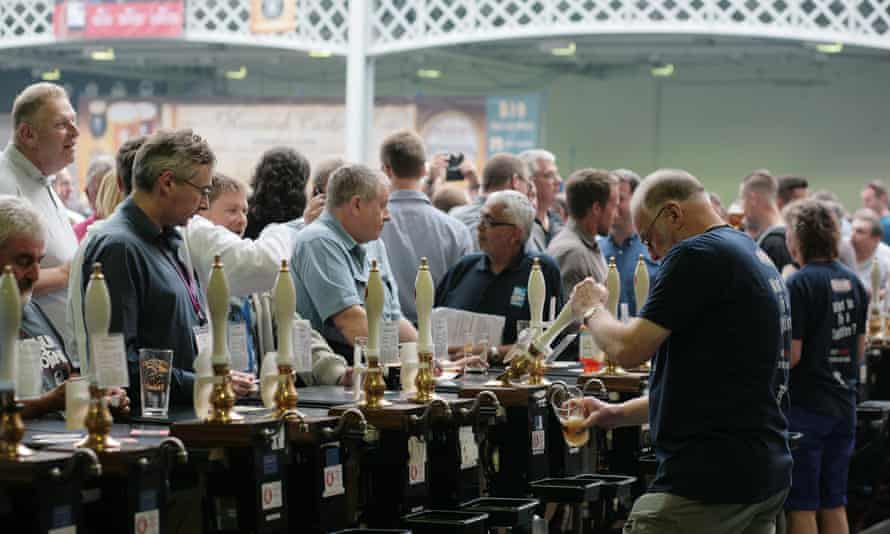 The Great British Beer Festival at Olympia exhibition halls, London.