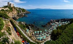 Seaside village of Talamone, Tuscany,