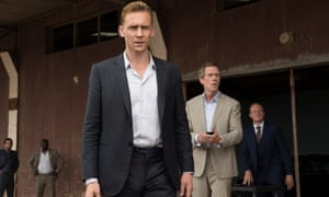 Something of the night … Tom Hiddleston, Hugh Laurie and Alistair Petrie in The Night Manager.