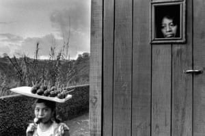 Girl selling toffee apples near Guatemala City, Guatemala 1978 Sebastiao Salgado, who now lives in Paris, remained hunted by these faces long after he left his native Brazil in the late 60's. Over a 7 year period that seemed to take him back centuries, he traveled to Brazil's northeast and through Chile, Bolivia, Peru, Ecuador, Guatemala and Mexico. This body of work he was awarded in Paris the critics and public award for the best exhibition and received in Spain the Ibero-America award.