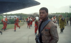 John Boyega in Star Wars: The Force Awakens. 'Some diehard fans went to the dark side over the idea that a stormtrooper could be black'