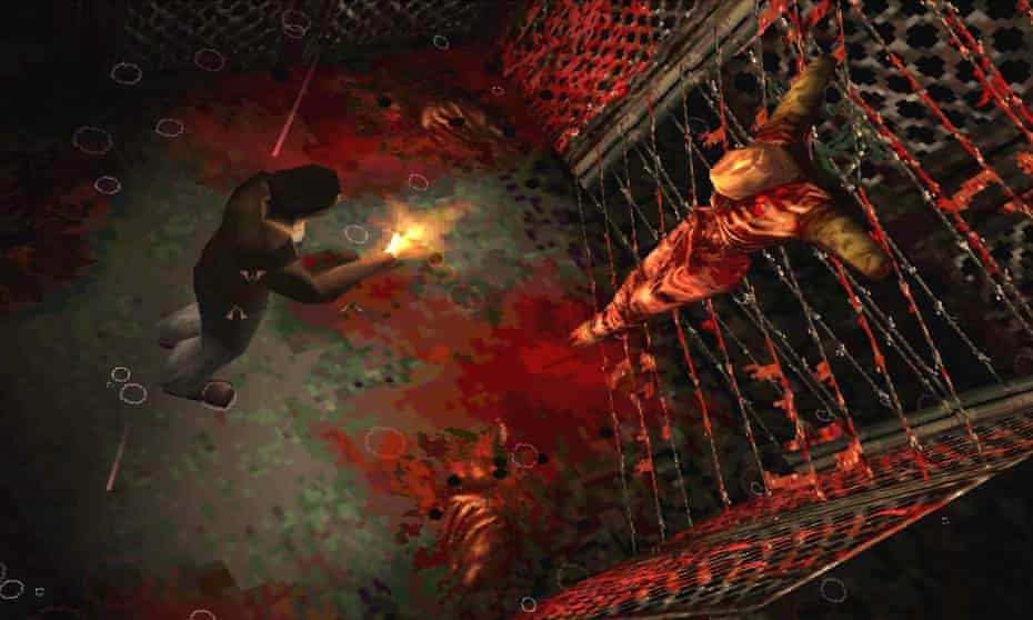 A still from the horror game Silent Hill.