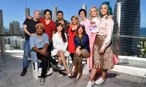Australia's Eurovision hopefuls include (L-R back row) Michael Ross, Aydan Calafiore, Alfie Arcuri, Tania Doko, George Sheppard, Emma Sheppard and Amy Sheppard and (front L-R) Zaachariaha Fielding, Leea Nanos and Ella Hooper.