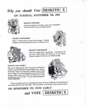 The 'Vote Hesketh' leaflet published by Max Mosley