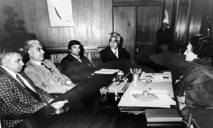 IWA leadership meet with the former Indian prime minister Indira Gandhi.
