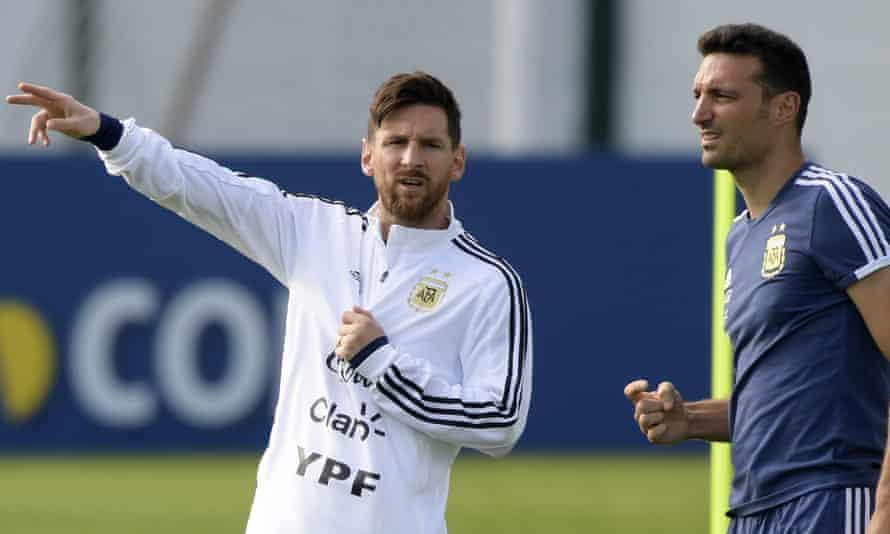 Lionel Messi and Lionel Scaloni