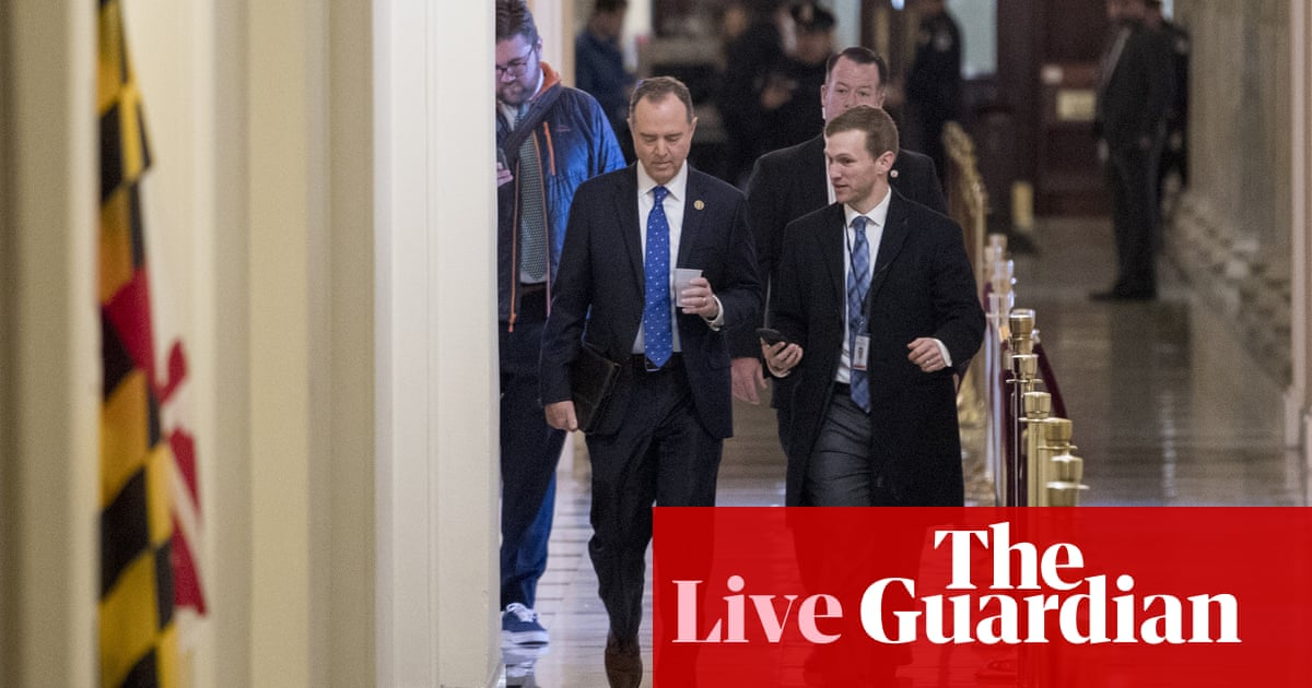 3170 - Adam Schiff at House debate: if Trump's conduct isn't impeachable, 'nothing is' – live | US news